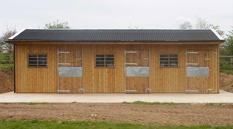Timber horse stables Harrogate.