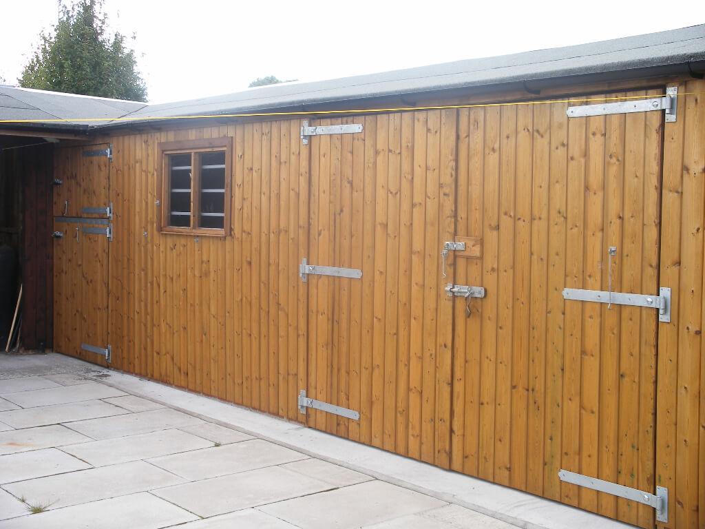 Double door access into stable