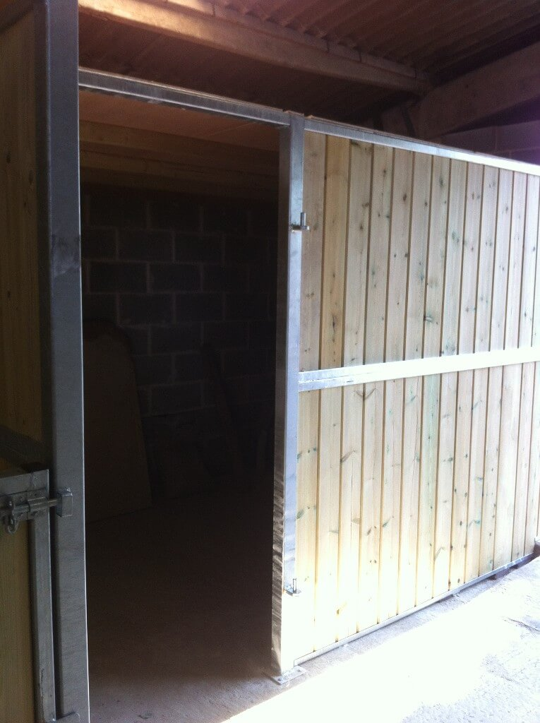 Tack room installed alongside our component range internal stable.