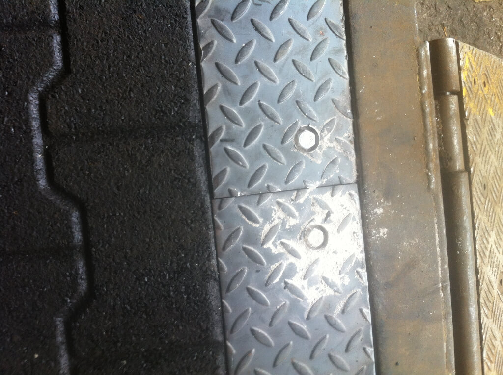 Checker plate edging.