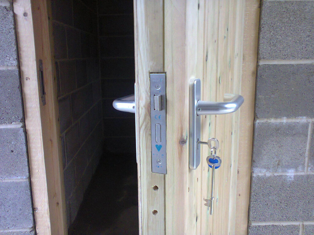 Our doors are both solid and secure.