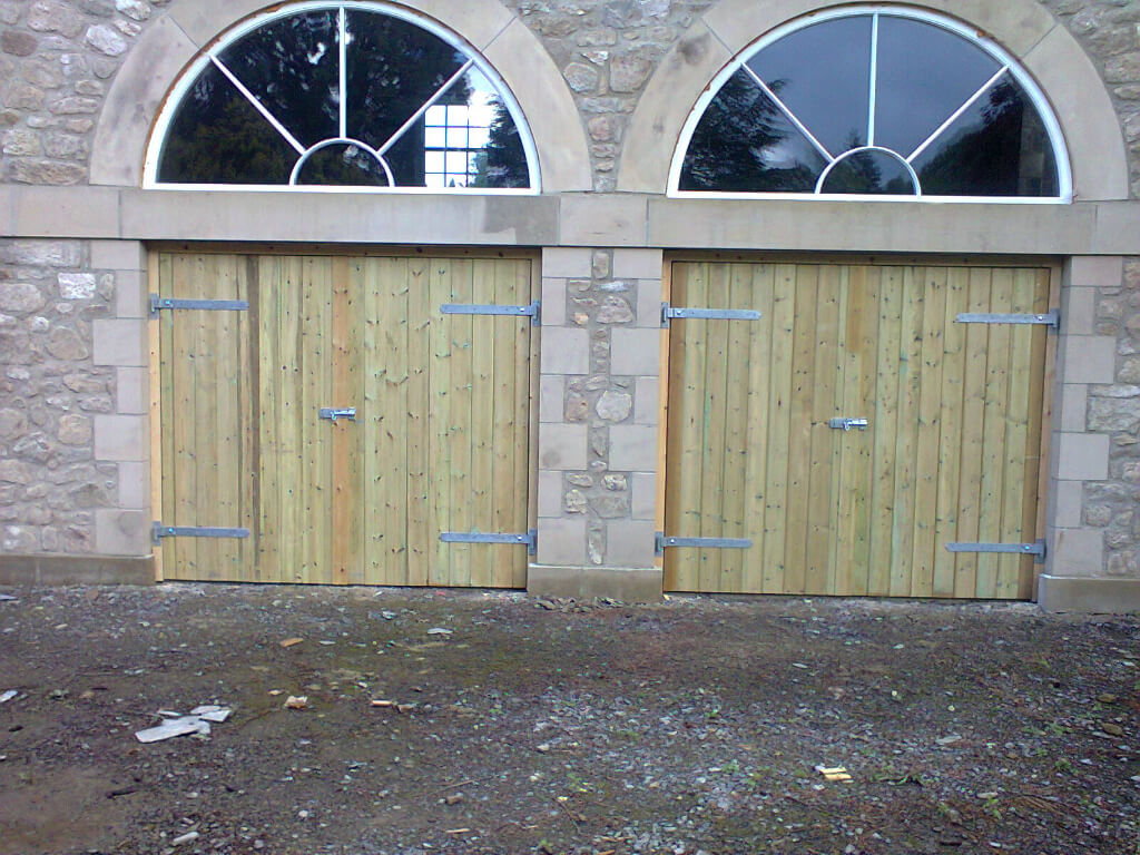 Garage doors for 'outbuildings of large country house in North Yorkshire.