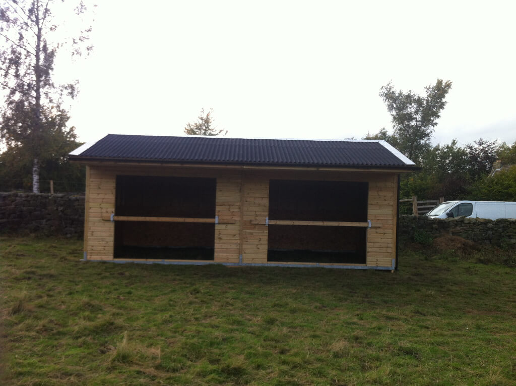 Mobile field shelter built on galvenised steel skids allow the shelter to be moved with relative ease.